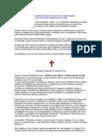 ORAÇÕES DE CURA E LIBERTAÇÃO