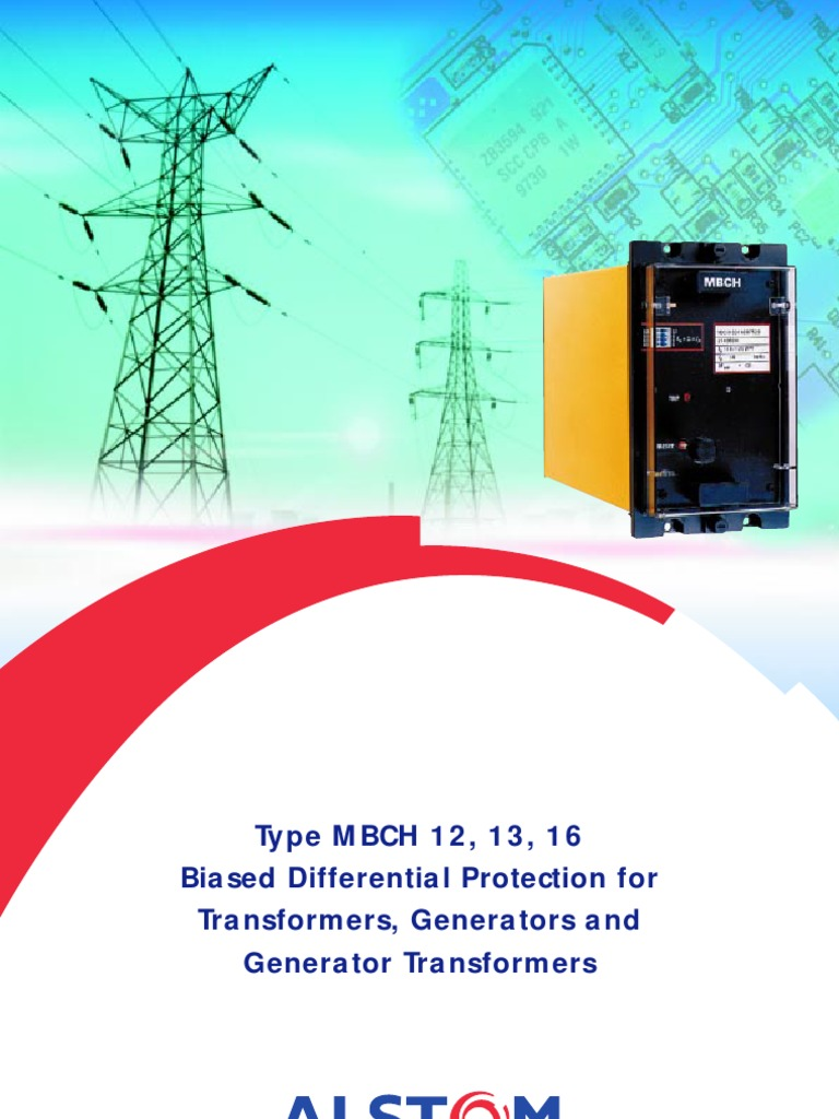 MCGG Manual Relay High Voltage - Alstom electromagnetic relay catalogue