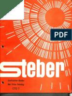 Steber Lighting Net Price Catalog 1970