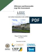 LCCC, Energy Efficiency and Renewable Energy Site Assessment, MEGA J's Supermarket, 12-2010