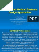 Constructed Wetlands Design Methods