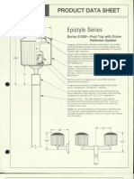 Moldcast Lighting Product Data Sheet Epistyle Post Top Dome Reflector System 1987