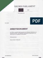 Arbeitsdokument 09.01.2009 EUParlamentPetAusFile0209-1