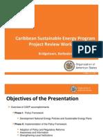 Caribbean Sustainable Energy Program (CSEP) - Project Review Workshop, 10-2011