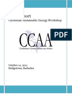 Caribbean Sustainable Energy Workshop, Final Report, 10-2011