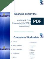Naanovo Energy Inc. - Anthony Fiddy, 9-2012