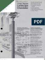 Moldcast Lighting Landscape Chandelier Square HPS Large Spec Sheet 1976