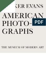 "Walker Evans ""American Photographs"""