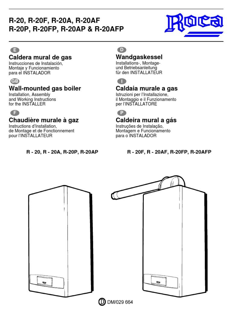 manual caldera roca r 20 instalador