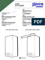 Manual Caldera Roca R20, F, A, AF, P, FP, AP, AFP. Usuario