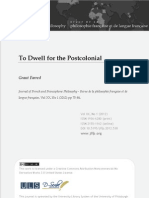 To Dwell for the Postcolonial