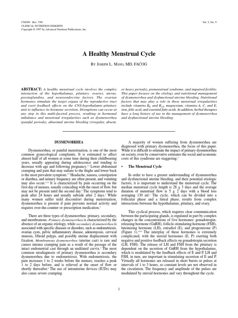 ciclo menstrual regular e irregular