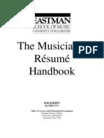 musician's resume guide