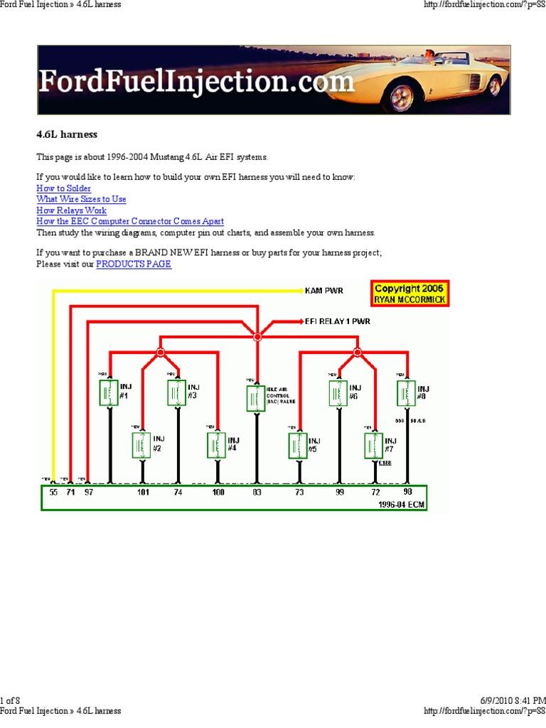 [SCHEMATICS_4FR]  Ford 4.6L Engine Wiring Harness | Fuel Injection | Ignition System | 2008 F150 4 6l Engine Diagram |  | Scribd