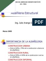 Albañileria Marzo 2005 - Ing Julio Arango Ortiz