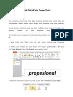 Cara Membuat Efek Teks Pada Power Point