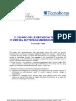 Glossario Definizioni Tecniche Settore Immobiliare Ed Economico