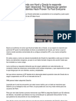 HP Presenta Demanda Con Hurd y Oracle Le Responde Firmemente Con Romper Relaciones the Astounding Gestion Empresarial Antecedentes Hack Which Can Fool Just About All.20121223.011102