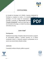 CONVOCATORIA OFICIAL DE PARTICIPACIÓN REPENSANDO LA PSICOLOGÍA SEGUNDO COLOQUIO ESTUDIANTIL
