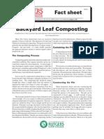 Back yard leaf composting guide