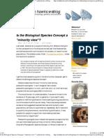 Is the Biological Species Concept a Minority View_john Hawks Weblog