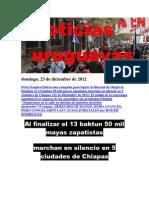 Noticias Uruguayas domingo 23 de diciembre del 2012