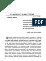 Banketi mediokritetstva…, Nermin Sarajlić