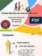 Radiasi Mamalia Dan Asal-Usul Manusia Sukses 7C