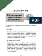 Consejos Para Predicadores Principiantes, Cap 7