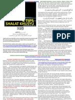 tips shalat khuyuk