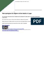 Afdrukken - BBC News - Nato Apologises for Afghan Civilian Deaths in Logar