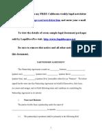 Sample Partnership Agreement for California
