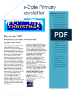Autumn Newsletter 2012
