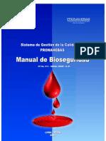 Manual de Bioseguridad Pronahebas