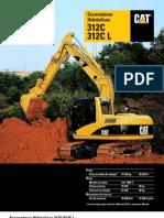 Catalogo de Excavadoras 312 CL