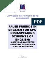 English False Friends