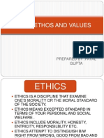 Indian Ethos and Values