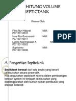 ppt . Menghitung vol septictank