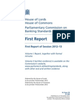House of Lords, House of Commons Parliamentary Commission on Banking Standards