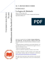 Beonio Bocchieri Fumagalli -La Logica Di Abelardo (1969)