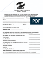 IHELP, Pro Field Auditor Weekly Report Form (1997)