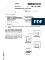 Process for Making Expanded Glass Products, And the Products Obtained by Means of Said Process