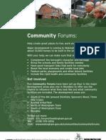 Community Forums Flyer