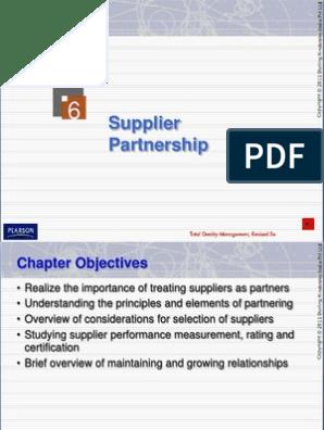 TQM supplier selection | Procurement | Supply Chain
