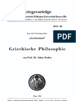 Becker Griechische Philosophie