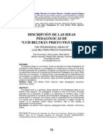 DESCRIPCIÓN DE LAS IDEAS PEDAGÓGICAS DE PRIETO