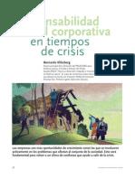 Responsabilidad Social Corporativa en Tiempos de Crisis