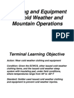 Clothing and Equipment for Cold Weather and Mountain Operations
