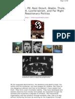 Freemasonry, P2, Nazis, Occult