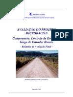 AVALIAÇÃO DO PROJETO MICROBACIAS - Componente Controle de Erosão ao longo de Estradas Rurais